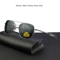 Pilot USA.RE Sunglasses Men Top Quality Brand Designer RANDOLPH AGX Tempered Glass Lens AO Sun Glasses Male YQ1006