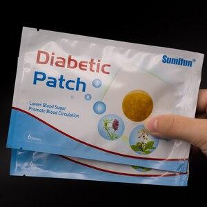 Image 4 - 120pcs = 20 שקיות סוכרתי תיקון סיני צמחים מייצב רמת סוכר בדם נמוך יותר דם גלוקוז סוכר איזון רפואי טיח d1809