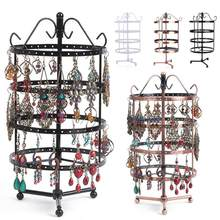 Jewelry Display Stand Jewelry Rack 4th Floor Metal Bathroom Store Bedroom 144 Hole Multifunction Sturdy Earring Holder Party(China)