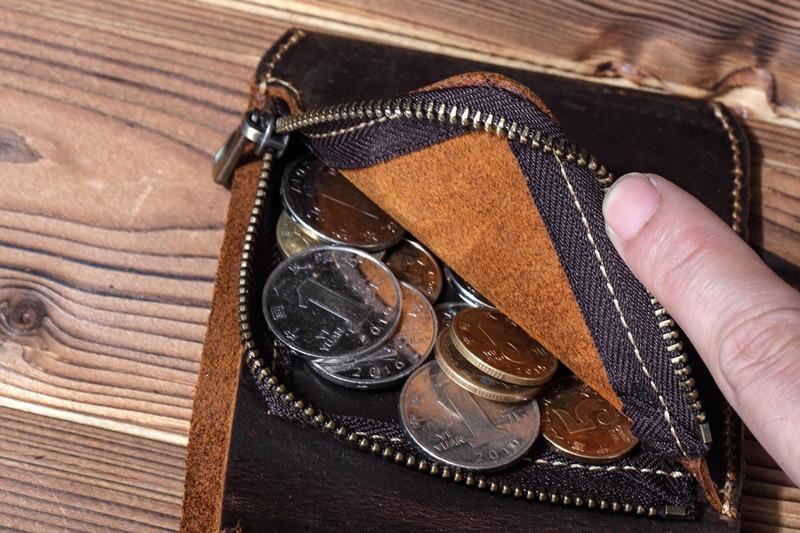 Genodern couro genuíno masculino bolsa com bolso