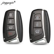 Jinyuqin 3 4 кнопки смарт-ключ чехол для Hyundai Genesis 2013-2015 Santa Fe Equus Azera IX45 удаленный брелок Замена