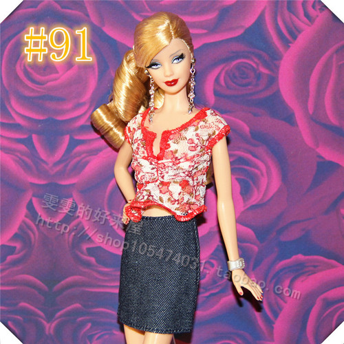 30cm Doll Dress Fashion Clothes handmade outfit For Barbie Doll Accessories Baby Toys Best Girl' Gift 2