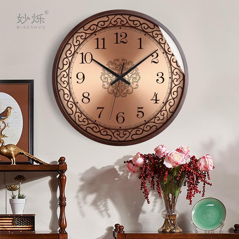 Luxury Nordic Wall Clock Modern Design Gold Europe Style Wall Clock Vintage Creative Living Room Reloj Pared Home Decor JJ60WC