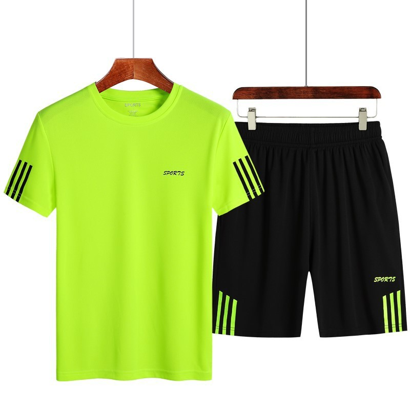 Summer Sports Set Plus-sized Menswear Quick-drying T-shirt Quick Drying Pants Short Sleeve Sports Clothing