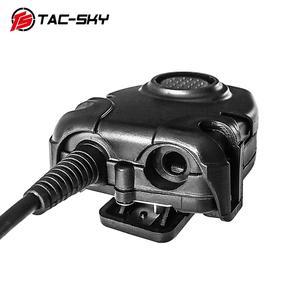 Image 3 - TAC SKY Tactical Headset U94  PELTOR PTT Button Walkie Talkie Headset Plug Adapter Airsoft Radio Military Shooting Earmuffs Use