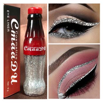 CmaaDu Diamond Glitter Eyeshadow butelka 12 kolorów Shimmer płynny cień do powiek makijaż kolorowy cekiny dla kobiet Shinny urocze oczy tanie i dobre opinie Satin Brokat Metalowe radiant Luminous Jeden kolor Cień do oczu glitter sequins 1pcs Chiny GZZZ W pełnym rozmiarze eyeshadow bottle