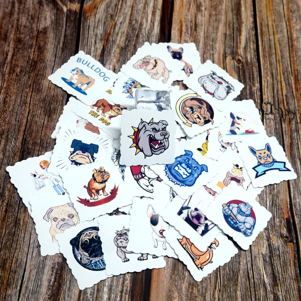 35pcs Cool Animals Waterproof Stickers DIY Phone Guitar Suitcase Laptop Bicycle Helmet Skateboard Decals Stickers Gift Stickers