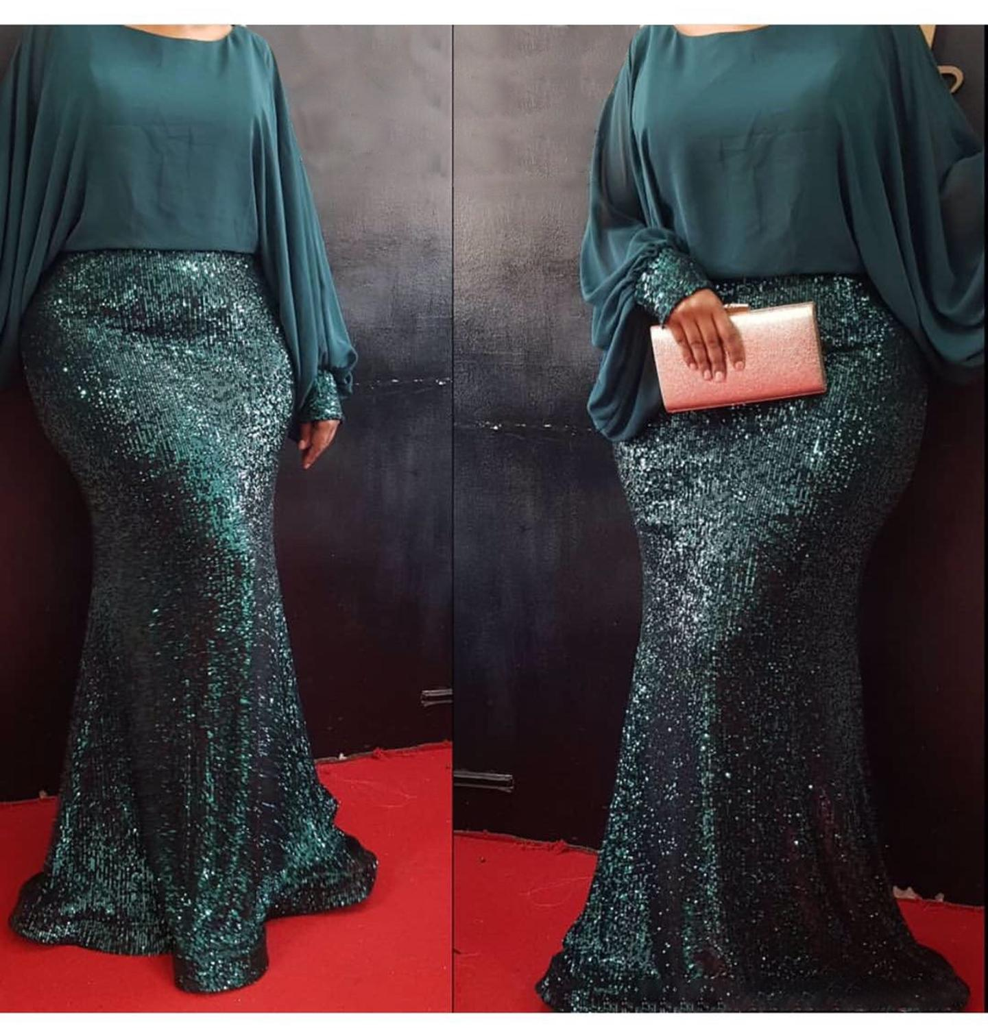 African Dresses For Women 2020 Elegant Fashion Chiffon Sequins Wedding Party Dresses Dashiki Round Neck Party Lady Dresses