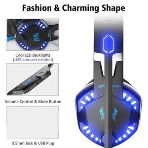 Image 2 - KOTION JEDER Gaming Headset Tiefe Bass Stereo Spiel Kopfhörer mit Mikrofon LED Licht für PS4 PC Laptop + Gaming Maus + mäuse Pad