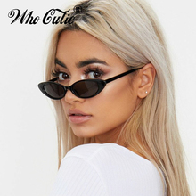 Small Oval Vintage Sunglasses Women Cat Eye Brand Design Retro Skinny Cateye Fra