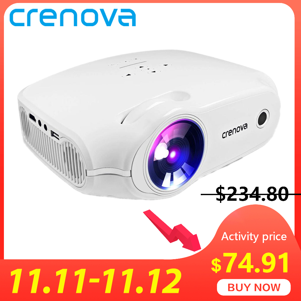 CRENOVA XPE498 New Portable Projector For Full HD 4K*2K 3200 Lumens  Home Theater Movie Beamer Android 7.1.2OS Proyector-in LCD Projectors from Consumer Electronics