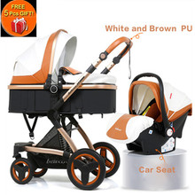 Belecoo Luxury Multifunctional Baby Stroller 2 in 1 Carriage High Landscape