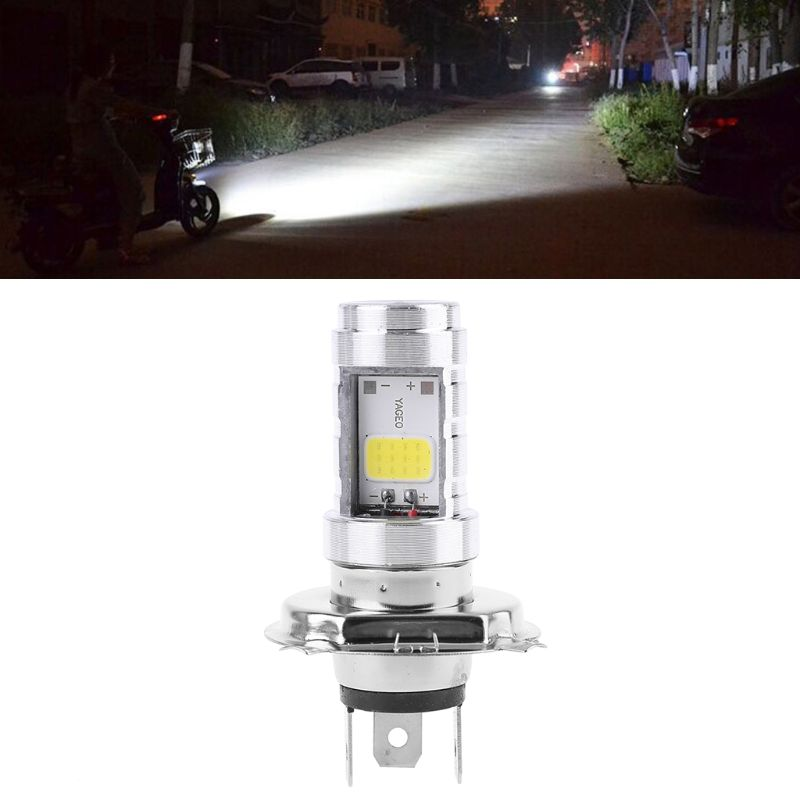 New 1 Pc 15W H4 Motorcycle Bulb LED Lamp Hi/Lo Beam Headlight Front Light For Honda Kawasaki Motorbike Accessories