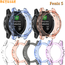 TPU Protective frame For Garmin Fenix 5 Plus replacement Smart accessories Watch Protector shell