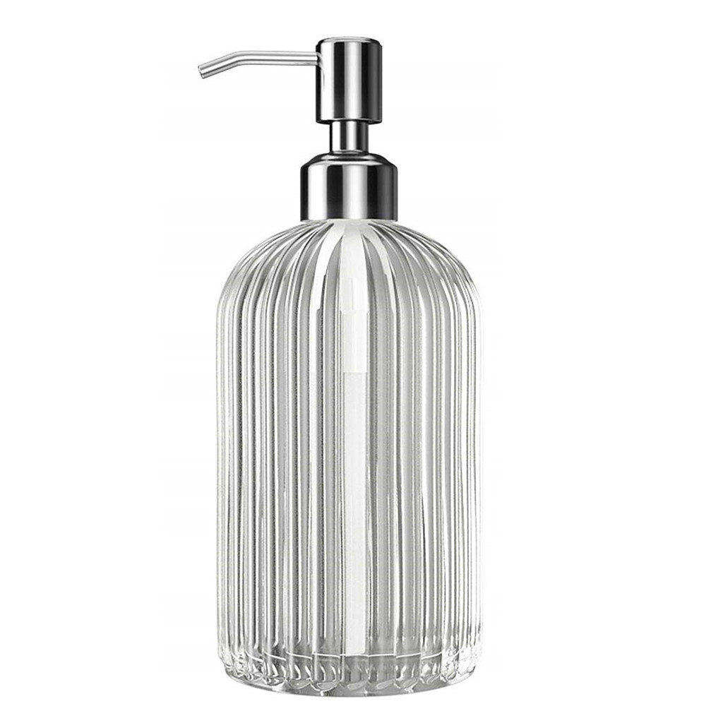 500ml Soap Dispenser Push Type Hand Sanitizer Bottle Glass Bathroom Hand Sanitizer Gel Dispenser Shampoo Bottle Dispensador K2