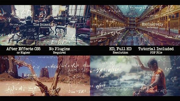 471大气文字特效图片展示动画AE模版