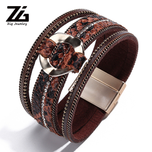 ZG New Leather Bracelet Leopar