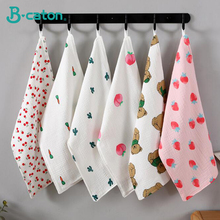 Baby towel four layers of cotton bubble gauze childrens baby saliva bibs 27x50 cm