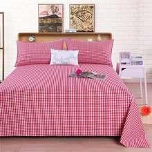 2019 Plaid 3 Piece Set Decor Brand 100% Cotton Bed Sheets Home Textile Para Sheet Pattern