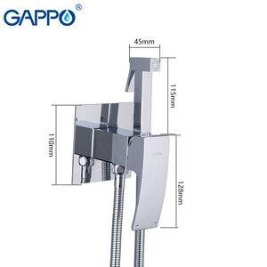 Image 4 - GAPPO בידה ברזי לבן כרום מקלחת היגיינה מיקסר אסלה בידה מוסלמי מקלחת ניקוי אנאלי התחת כף יד מרסס שרותים סט