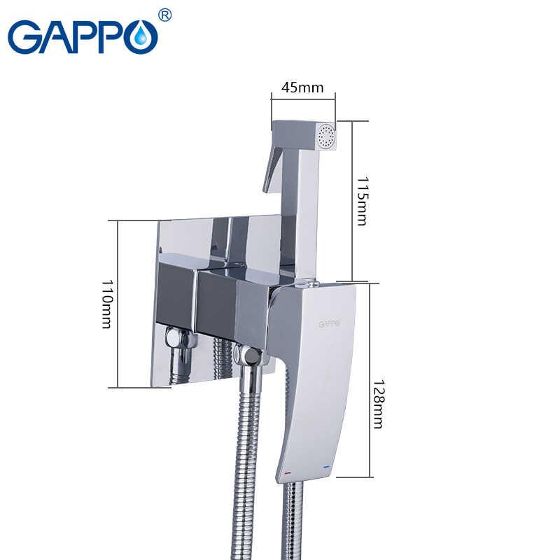 Gappo torneiras bidé branco cromado, chuveiro bidé higiênico limpeza anal latão portátil vaso sanitário moderno