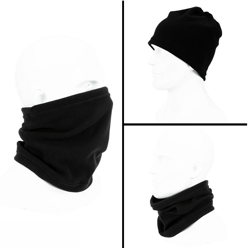 3 in 1 Multifunction Winter Neck Warmer Unisex Fleece Warmer Neck Ring Scarf Winter Hat Outdoor Sports Face Mask Scarves 4