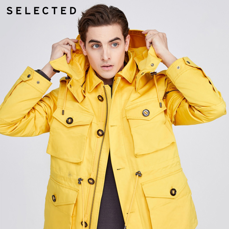 SELECTED Detachable Two-piece Design Duck Down Jacket R|420112513