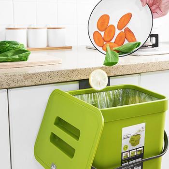 5L naścienny kosz na śmieci kosz z pokrywką kosz na śmieci kuchnia drzwi do szafki wiszący kosz na śmieci kosz na śmieci kosz na śmieci kosz na śmieci tanie i dobre opinie CN (pochodzenie) SQUARE Stojący Ekologiczne Na stanie Wiadro na śmieci 5L Trash Bin Kitchen Wall Mounted Bez pokrywy PP material