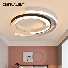 CBETLALISA.modernist LED ceiling chandelier, for living bedroom kitchen, white black round chandelier