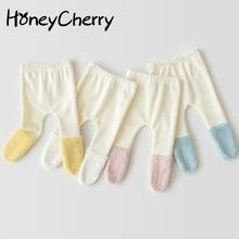 Корейские осенние и зимние детские колготки, плюшевые детские леггинсы, одежда для маленьких девочек, зимние детские леггинсы для новорожденных