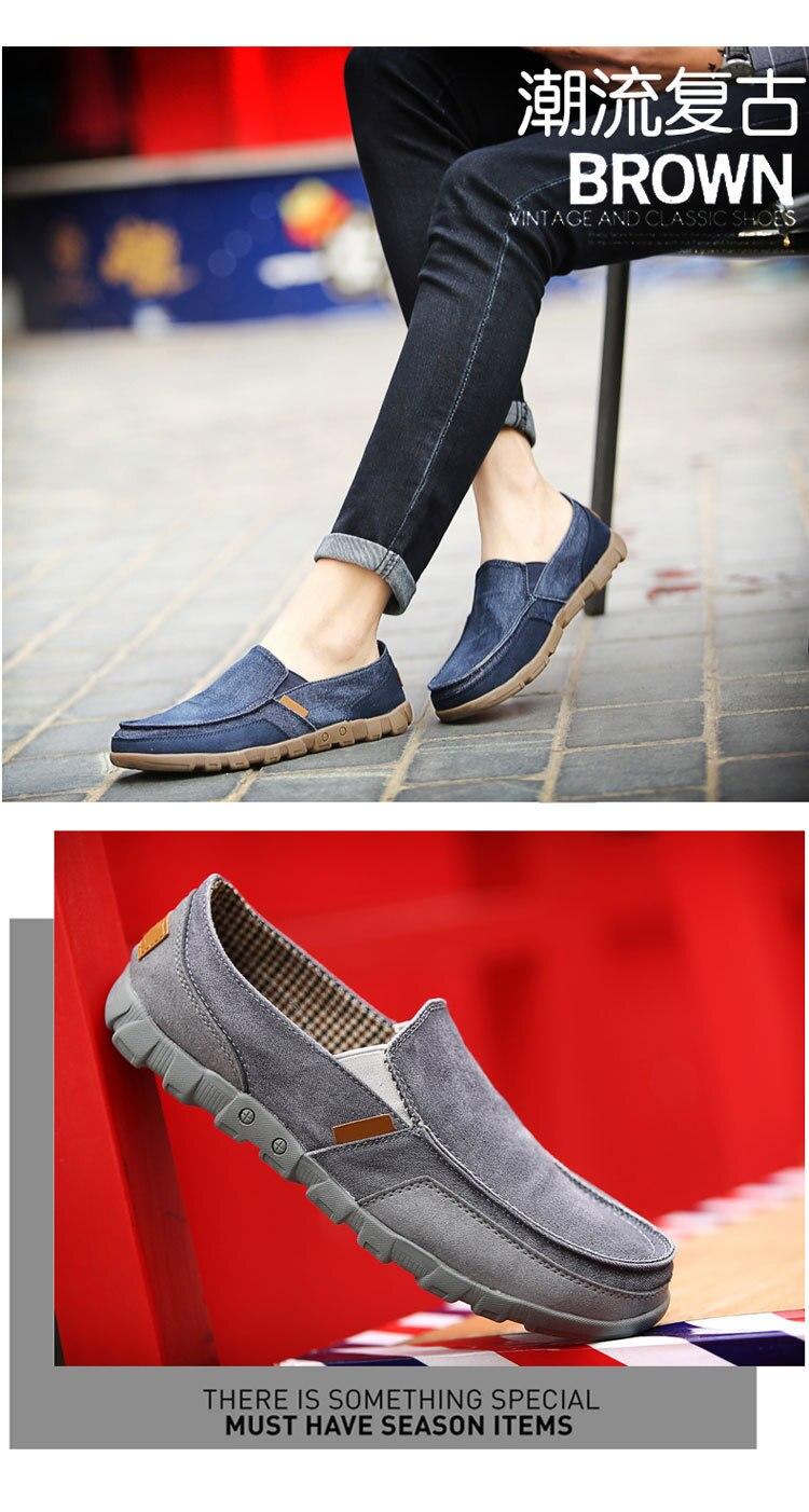de lona dos homens sapatos casuais respirável