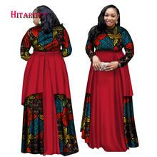 Новые африканские платья базин для женщин с длинным рукавом