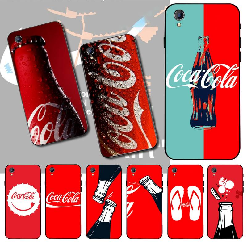 NBDRUICAI Drink Cola Soft Silicone Black Phone <font><b>Case</b></font> For <font><b>Vivo</b></font> Y91c <font><b>Y17</b></font> Y51 Y67 Y55 Y93 Y81S Y19 Y7S <font><b>Case</b></font> image