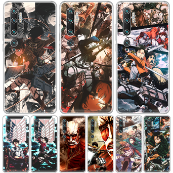 Attack on Titan Levi Rival anime Phone Case cover hull For XIAOMI MI 3 4 5 5X 8 9 10 se max pro a2 9T note lite transparent image
