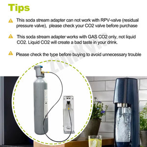 Image 5 - SodaStream Maker Soda Club Fizz Sparkling Water Machine External Hose & Adapter Kit to CGA320 W21.8 Big Co2 Tank 5ft or 6.56ft