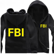 2019 FBI Hoodies Men Police CIA Hooded Cotton Coat Fashion Novelty Sweatshirt Winter Jacket Sweatshirt Hoodies(China)