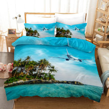 Airplane 3d Bedding Set Duvet Covers Pillowcases Children Room Decor Comforter Bedding Sets Bed Linen 01(China)
