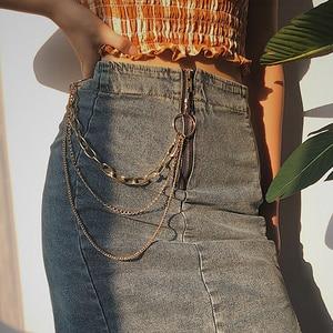 Punk Hip-hop Trendy Single/Three Layer Belt Key Chain Waist Pants Chain Jeans Long Metal Clothing Accessories Jewelry Fashion