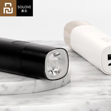 Youpin SOLOVE X3 USB 충전식 밝기 EDC 손전등 3000mAh 전원 은행 휴대용 미니 LED 토치 야외 자전거에 대 한