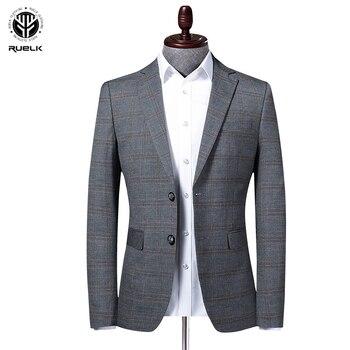 RUELK New Spring Autumn Business Fashion Slim Suit Casual Men Blazer Jacket Male High Quality Men's Suit Brand Clothing M-4XL
