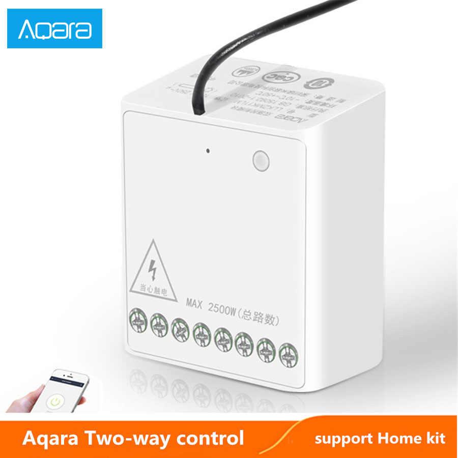 Aqara iki yönlü kontrol modülü kablosuz röle anahtarı denetleyici akıllı zamanlayıcı 2 kanal için çalışmak xiaomi mijia MI ev APP Homekit