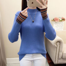 Женский осенний свитер с высоким воротом, флисовые теплые пуловеры