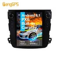 10.4''Vertical screen Tesla Android 8.1 voice control Built-in CARPLAY Car Radio For Mitsubishi Outlander 2006-2011 GPS Nav