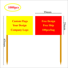 Custom flag logo Toothpick flags Customer design flag Cake topper Your logo flags Total 1000pcs, Free ship Low to USD0.099/pc