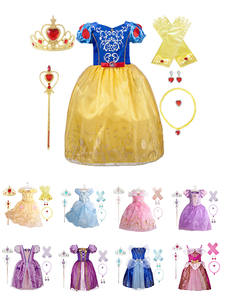 Girl Princess Christmas-Dress Halloween-Costume Free-Accessories Sofia Snow-White Dress-Up