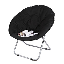 Große Größe Mond Klappstuhl Tragbare Couch Faul Stuhl für Erwachsene Weiche Oxford Tuch Kissen Sitz Büro Stuhl Starke Lager