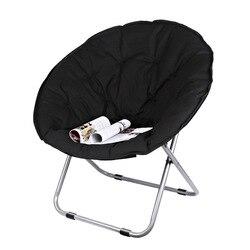 Tamaño grande luna plegable silla portátil sofá perezoso silla para adultos suave Oxford tela cojín asiento silla de oficina fuerte rodamiento