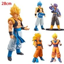 28cm Dragon Ball Super Gogeta Action Figure Dragon Ball Super Saiyan Goku Vegeta Figura Pvc Model Toy