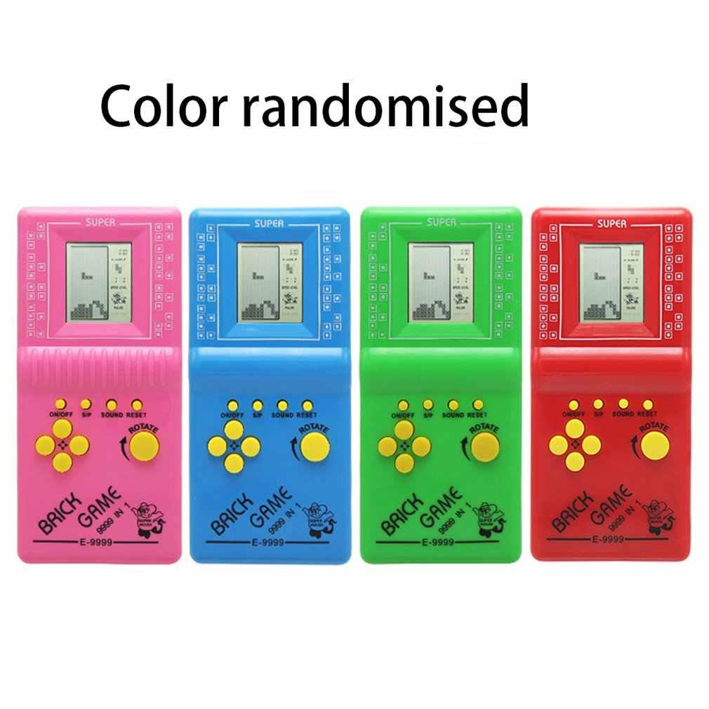 ポータブルテトリスハンドヘルドゲームプレーヤーlcd電子ゲームおもちゃポケットゲームコンソールクラシック幼児ギフト用