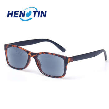 Sunglasses Reading Glasses Fashion Lens Eyewears with Sun Glasses for Men Women Retangular Large Frame Readers Brown Lens Gray select a vision sport readers with rectangular lens black